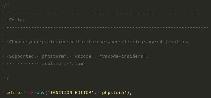 Wpis w pliku konfiguracyjnym Ignition wczytujący wartość z pliku zawierającego zmienne środowiskowe aplikacji