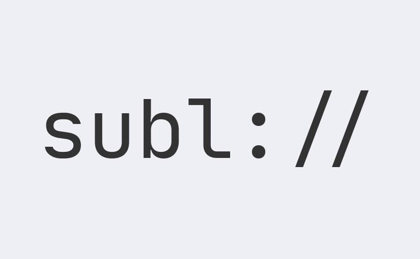 Protokół subl:// – obsługa przekierowania z przeglądarki do edytora Sublime Text 3